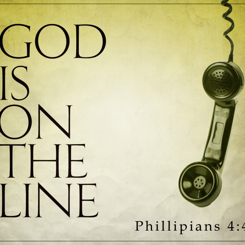 god is on the line_t